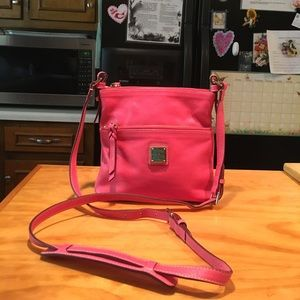 D&B Pink Pebbled Leather Shoulderbag Crossbody